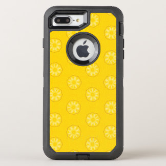 Yellow Pineapple Slices Pattern OtterBox Defender iPhone 7 Plus Case