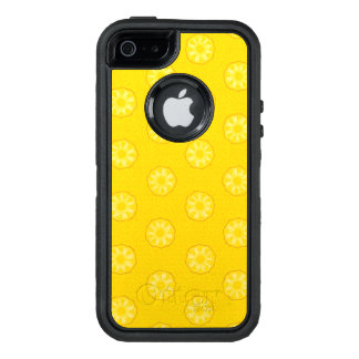 Yellow Pineapple Slices Pattern OtterBox Defender iPhone Case