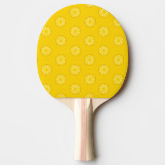 Yellow Pineapple Slices Pattern Ping Pong Paddle