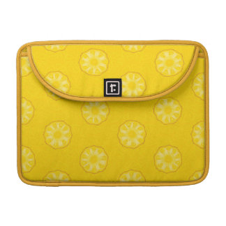Yellow Pineapple Slices Pattern Sleeve For MacBook Pro