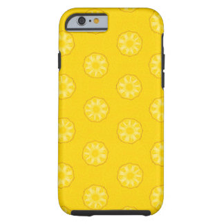 Yellow Pineapple Slices Pattern Tough iPhone 6 Case