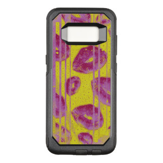 Yellow Pink Abstract Kisses OtterBox Commuter Samsung Galaxy S8 Case