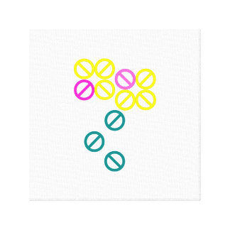 Yellow Pink Circle Flower Floral Blossom Canvas Canvas Print