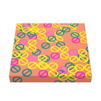 Yellow Pink Circle Flower Orange Blossom Canvas Canvas Print