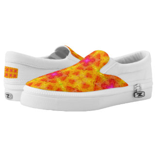 Yellow & Pink Custom Zipz Slip On Shoes Printed Shoes