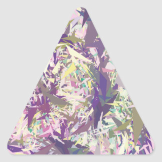 Yellow Pink Green Triangle Sticker
