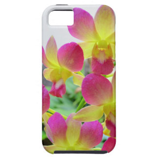 Yellow Pink Orchids Tough iPhone 5 Case