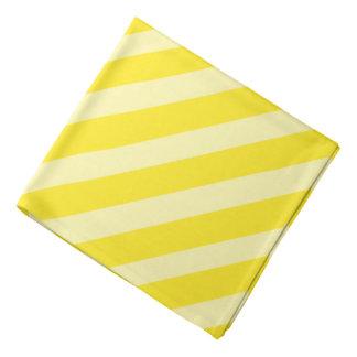 Yellow Pirate Stripes Bandana
