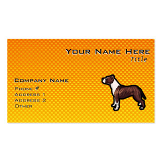 Yellow Pitbull Pack Of Standard Business Cards