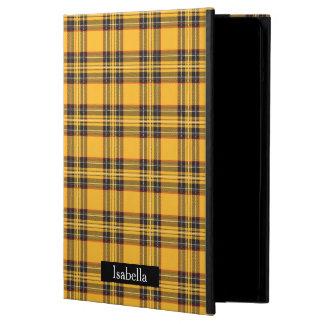 Yellow Plaid iPad Air Case with No Kickstand