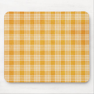 Yellow Plaid Mouse Pads