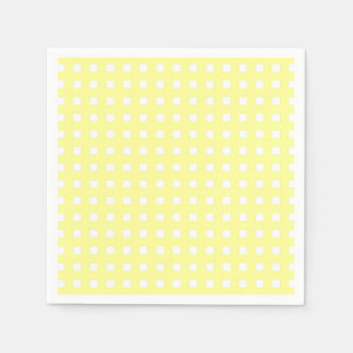 Yellow Plaid Paper Napkin