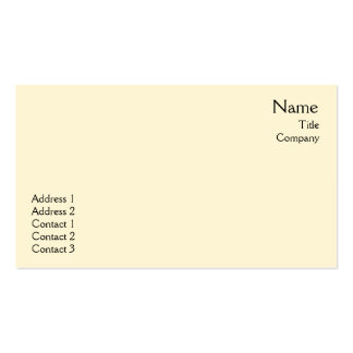 Yellow Plain - Business Pack Of Standard Business Cards