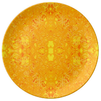 yellow plate porcelain plates