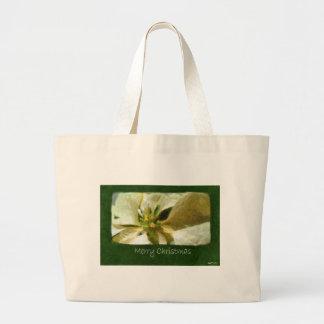 Yellow Poinsettias 1 Painterly - Merry Christmas Tote Bag