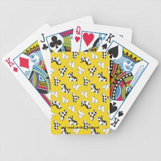 Yellow Polka Dot Baby Animals Bicycle Poker Cards