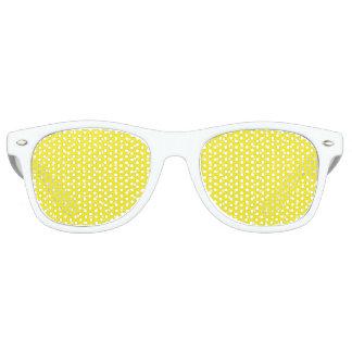 Yellow Polka Dot Design Retro Sunglasses