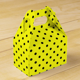 Yellow polka dot favour box