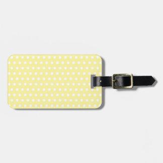 Yellow polka dot pattern. Spotty. Bag Tag