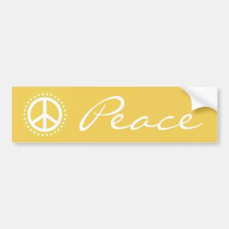 Yellow Polka Dot Peace Sign Bumper Sticker