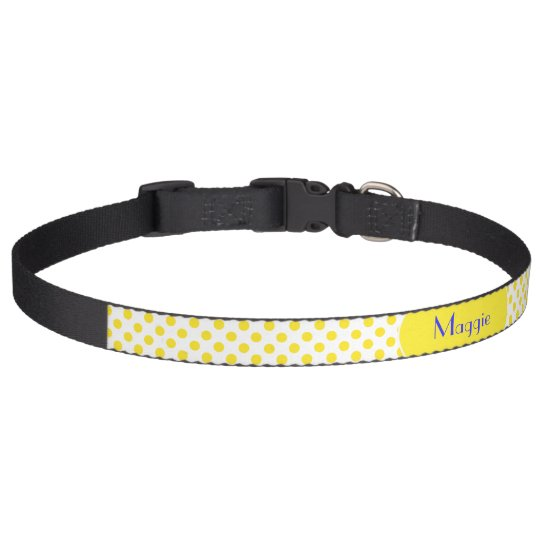 Yellow Polka Dot Pet Collar