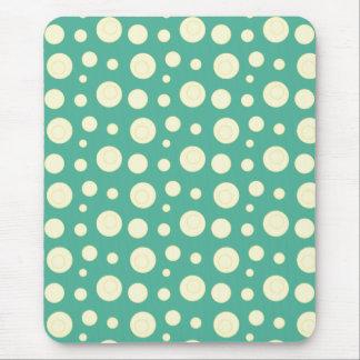 Yellow Polka Dot Swirls Mouse Pad