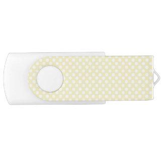 Yellow polka dot USB flash drive