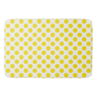 Yellow Polka Dots Bath Mat