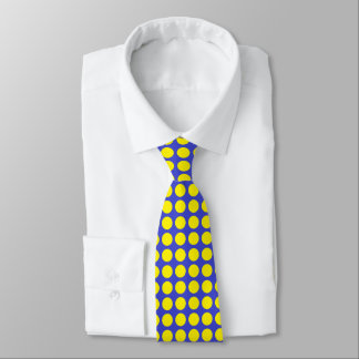 Yellow Polka Dots Blue Tie