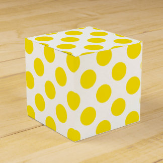 Yellow Polka Dots Favour Box