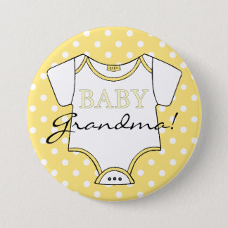 Yellow Polka Dots I'm The Grandma! 7.5 Cm Round Badge