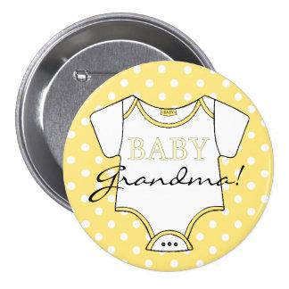 Yellow Polka Dots I'm The Grandma! 7.5 Cm Round Badge