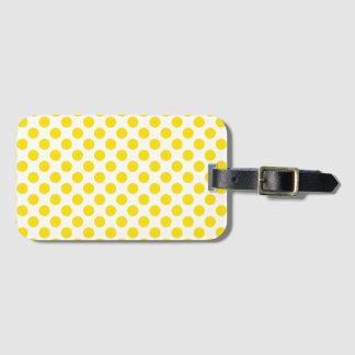 Yellow Polka Dots Luggage Tag