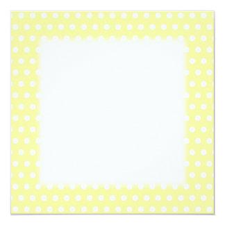 Yellow polka dots pattern. Spotty. 13 Cm X 13 Cm Square Invitation Card