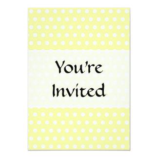 Yellow polka dots pattern. Spotty. 13 Cm X 18 Cm Invitation Card