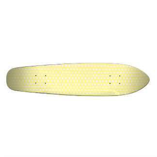 Yellow polka dots pattern. Spotty. 20.6 Cm Skateboard Deck