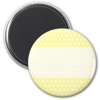 Yellow polka dots pattern. Spotty. 6 Cm Round Magnet