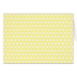 Yellow polka dots pattern. Spotty. Greeting Cards