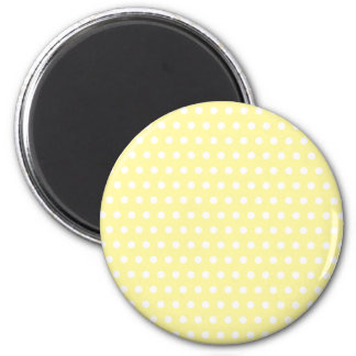 Yellow polka dots pattern. Spotty. Magnets