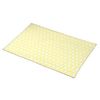 Yellow polka dots pattern. Spotty. Placemat
