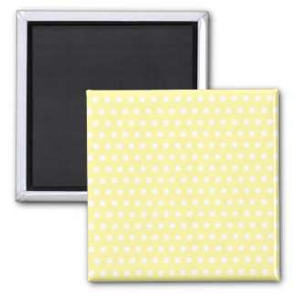 Yellow polka dots pattern. Spotty. Square Magnet