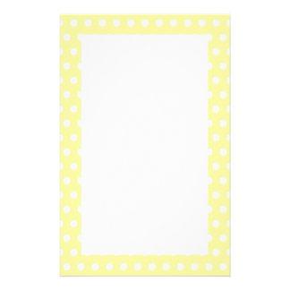 Yellow polka dots pattern. Spotty. Stationery