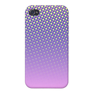 Yellow Polka Dots (Pink) iPhone 4/4S Cover