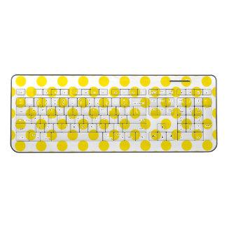 Yellow Polka Dots Wireless Keyboard