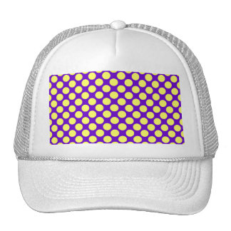 Yellow Polka Dots With Purple Background Cap