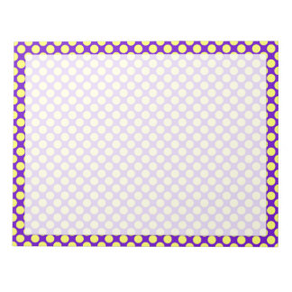 Yellow Polka Dots With Purple Background Notepads
