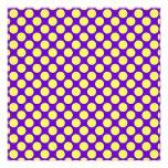 Yellow Polka Dots With Purple Background Photo Art
