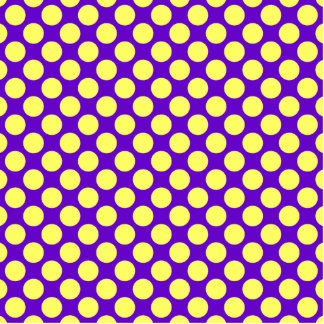 Yellow Polka Dots With Purple Background Photo Sculpture Decoration