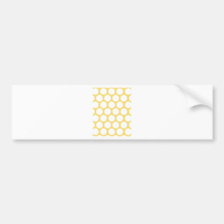 Yellow polka doty bumper sticker