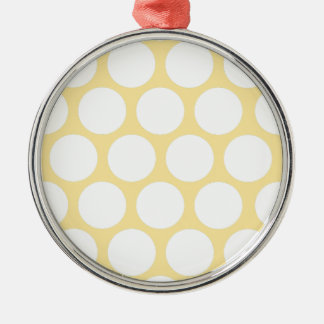 Yellow polka doty Silver-Colored round decoration